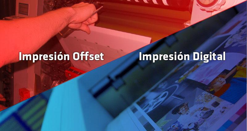 impresión digital impresión offset diferencias