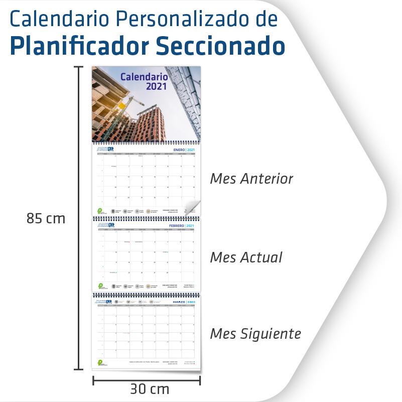 Calendarios Personalizados Seccionado