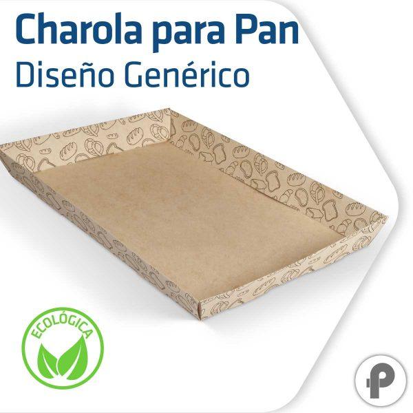Charola para pan biodegradable y compostable diseño genérico