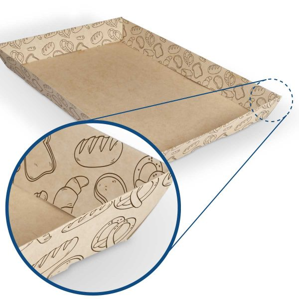 Charola para pan biodegradable y compostable