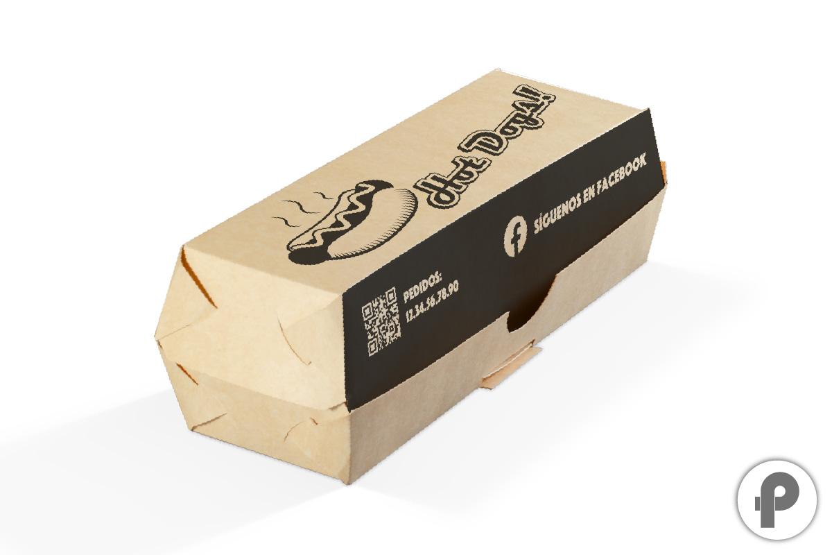 caja para hotdog