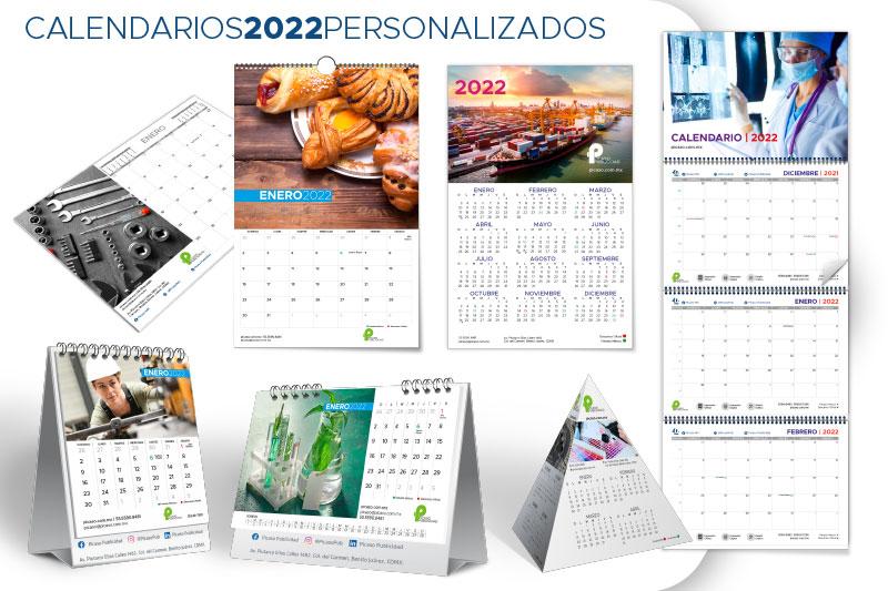 Impresión de calendarios personalizados 2022