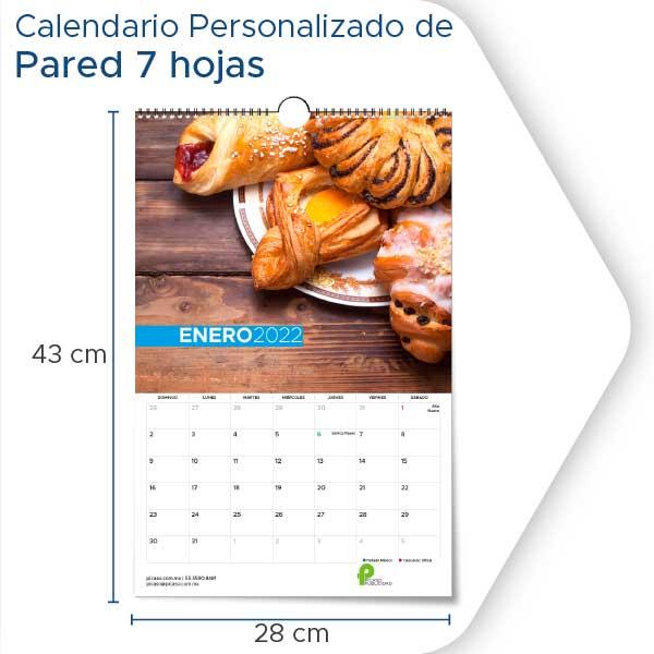 Calendarios Personalizados 2022 de pared 7 hojas