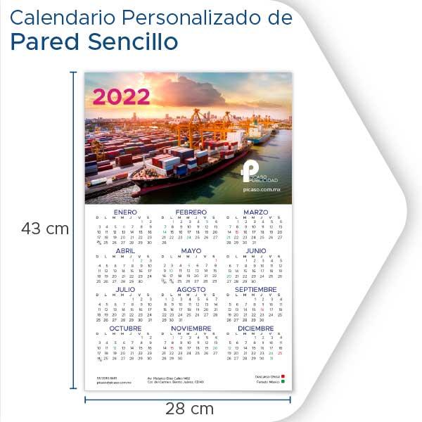 Calendarios Personalizados 2022 de pared sencillo